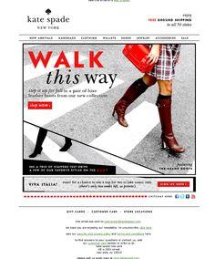 "Kate Spade ""Walk This Way"" Staff Email Design"