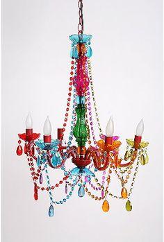 Super fun chandelier, simply love it. #chandelier #girl #bedroom $159.00
