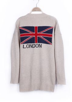 Union Jack Pattern Back Sweater Coat...which I love! Christmas maybe??