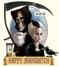 and in my house that means it's the annual watching of Terry Pratchetts 'Hogfather'. Keep a fireplace poker handy for the boogie monster under the bed, be careful what ha. Caricatures, Boogie Monster, Terry Pratchett Discworld, Discworld Books, Monster Under The Bed, The Boogie, Creepy Pictures, Grim Reaper, Reading