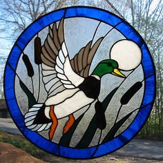 mallard stained glass