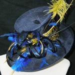 Blue wedding hat by Jenny Edwards-Moss