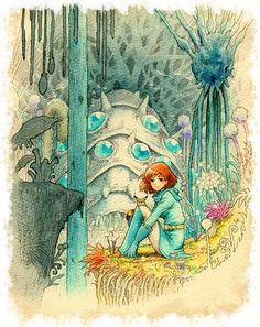 Nausicaä Of The Valley of the Wind --Watercolor Impressions // Hayao Miyazaki Plus