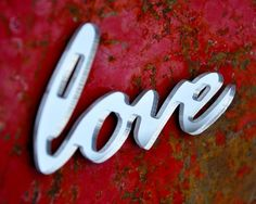 Mirror Acrylic Fridge Magnet  Love by StudioLiscious on Etsy, $8.00
