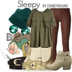 Sleepy by leslieakay on Polyvore featuring H&M, Koral, Betsey Johnson, Roxy, Bling Jewelry, Glitzy Rocks, Forte Forte, Accessorize, 7 For All Mankind and disney