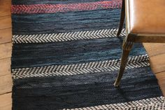 """Rug """"Late night thoughts"""" - recycled denim - Terra Mama Late Night Thoughts, Recycled Denim, Late Nights, How To Fall Asleep, Hand Weaving, Rugs, Partying Hard, Farmhouse Rugs, Hand Knitting"""