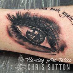 #eye #realistic #blackandgrey #tattoo #tattoos #custom #design #art #artist #tattooartist #illustration #london #england #chrissutton