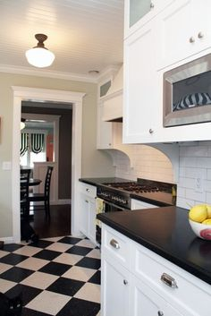 Retro tile. Love this look, want to do it, more than a little scary to go down this route though