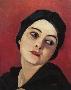 "lawrenceleemagnuson: ""Martiros Saryan (Armenia 1880-1972) Голова девушки - Head of a Young Woman (1923) oil on canvas """