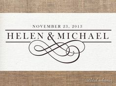 Premade logo and watermark for weddings or small by catbirdwhimsy, $25.00
