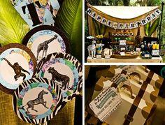 "Disney World's ""Jungle Safari Adventure"" Ride Inspired Party with Lots of Really Cute Ideas via Kara's Party Ideas | KarasPartyIdeas.com #Sa..."