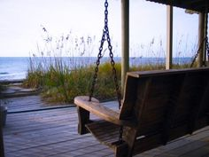 Relaxing on the Beach Porch - Edisto Beach, South Carolina My Father's House, House By The Sea, Cottages By The Sea, Beach Cottages, Beach Houses, Tiny Houses, Coastal Cottage, Coastal Living, Coastal Style