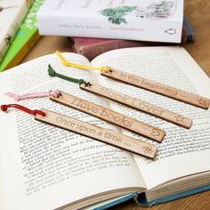 Four options of laser cut bookmark