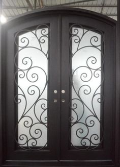 All of our doors are custom built to your exact dimensions. Please provide desired width and height for a free quote. Wrought Iron Doors, House Design, Houses, Architecture, Home Design, Home Design Plans, Design Homes