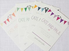 Just love the bunting on these free templates for a wedding save the date.
