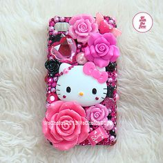 Cute Pink Hello Kitty Bling DIY Deco Kit Decoden by WeChoice2013, $11.50