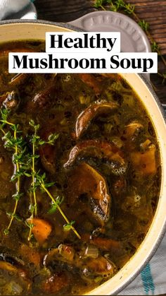 Mushroom Soup Without Cream, Best Mushroom Soup, Mushroom Gravy, Mushroom Sauce, Soup Recipes, Cooking Recipes, Healthy Recipes, Healthy Soups, Noodle Recipes
