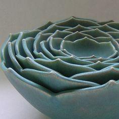 nesting lotus flower pottery