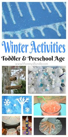 Such easy and fun winter activities to keep kids busy indoors and outdoors. The list includes boredom busters and play ideas for toddlers and preschoolers practicing fine-motor skills and sensory activities.