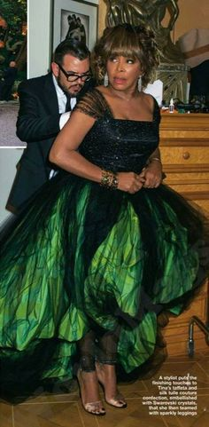 Photos - Tina Turner Chooses Green For Her Wedding Day Glam - Singersroom.com