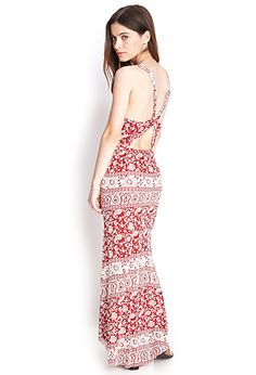 Cutout Paisley Maxi Dress | FOREVER21 - 2000069225