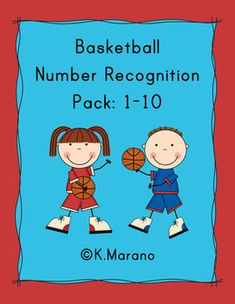 Basketball themed number recognition pack.  Composing numbers 1-10