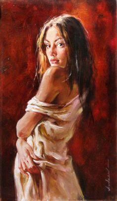 Original Painting, Waiting for Love by Andrew Atroshenko