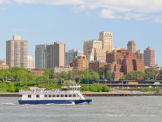 NY Waterway Ferry, East River, NYC (Downtown Brooklyn in background)
