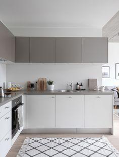 Modern Scandinavian kitchen. white and grey kitchen. Styling and photography Anu Tammiste