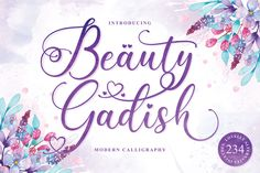 Beauty Gadish is a lovely modern calligraphy that bring luxury feel. The natural hand writing script is suitable for you who needs a typeface for headline, Handwritten Fonts, Calligraphy Fonts, Typography Fonts, All Fonts, Modern Calligraphy, Hand Lettering, Script Fonts, Fancy Fonts, Alphabet