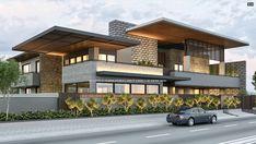Modern House Facades, Modern Exterior House Designs, Latest House Designs, Dream House Exterior, Modern Architecture House, Modern House Design, Exterior Design, 4 Bedroom House Designs, Bungalow House Design