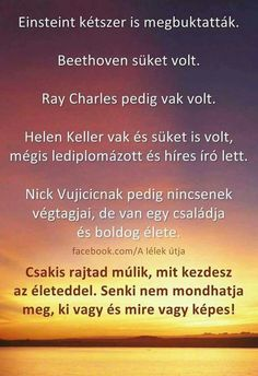 Csakis rajtad múlik! Ray Charles, Famous Quotes, Online Marketing, Einstein, Quotations, Motivational Quotes, Life Quotes, Feelings, Vans