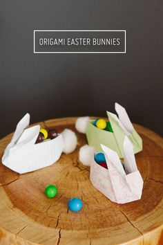 DIY Ultra Cute Origami Easter Bunnies with Cotton Bums DIY Origami DIY Craft