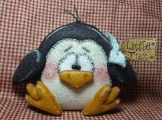 Little Tux the Penguin Pattern #194 - Primitive Doll Pattern - Winter/Christmas Felt Christmas Ornaments, Christmas Crafts, Christmas Clay, Owl Patterns, Craft Patterns, Turkey Pattern, Primitive Doll Patterns, Supply List, Felt Crafts