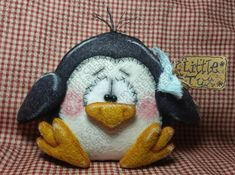 Little Tux the Penguin Pattern #194 - Primitive Doll Pattern - Winter/Christmas