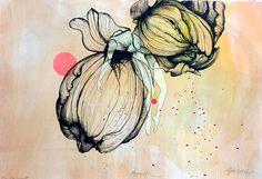 Håndkolorert litografi og tresnitt Unik originalgrafikk signert. Produsert 2015 Graphic Prints, Watercolor Tattoo, Art Drawings, Artist, Artwork, Painting, Art, Photo Illustration, Work Of Art