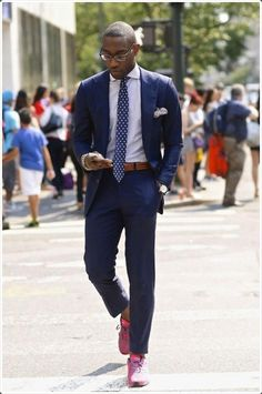 Image result for nigerian articles on how to wear sneakers with suit