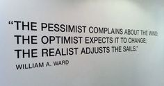 the difference between the pessimist, the optimist and the realist