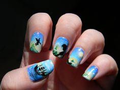 Disney Peter Pan Nail Art Manicure