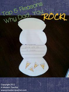 $ Father's Day Craftivity and Printable A Modern Teacher