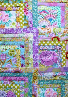 'Purple Rain' half log cabin quilt from The Gentle Art of Quilt-Making - Jane Brocket