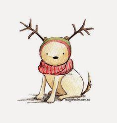 Nicky+Johnston Christmas: 52 Week Illustration challenge