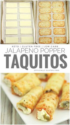 These Keto Jalapeño Popper Taquitos are Made with Only 4 Ingredients. They're quick to make and have 1 g Net Carbs per 2 Taquitos Ketogenic Recipes, Low Carb Recipes, Cooking Recipes, Low Carb Desserts, Comida Keto, Keto Dinner, Keto Snacks, Low Carb Keto, Appetizer Recipes