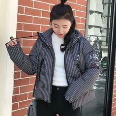 9512b75f9c80c snow wear 2018 loose winter coat women hooded warm down cotton jacket women  thick plus size
