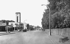 Old photo of Wimbledon Road Morden, Surrey, England . a little before my time, but that was Jarvis' gargage on the left! South London, Old London, West London, London History, Local History, Great Memories, Childhood Memories, Old Street, Wimbledon
