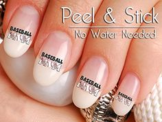 40 Baseball Mom Nail Art Decal Sticker Set >>> Continue to the product at the image link.