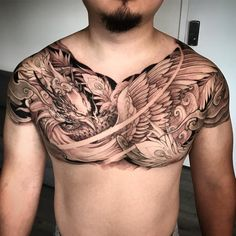"4,883 lượt thích, 31 bình luận - Tristen Zhang (@tristen_chronicink) trên Instagram: ""Phoenix chest piece in progress @chronicink @tatsoul #envycartridges #wearproud #workproud"""