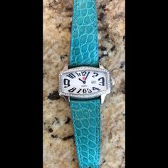 Michele diamond watch with alligator strap. Poshmark will test the diamonds to make sure they are authentic  before it reaches your home. The Michele watch has .50 (1/2carats )of sparkling authentic diamonds! This is in great condition! This is on other sites and may go fast! Michele Other
