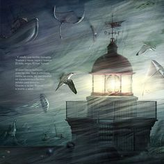 Torres Lighthouse (illustrated book) on Behance, by Juan Hernaz