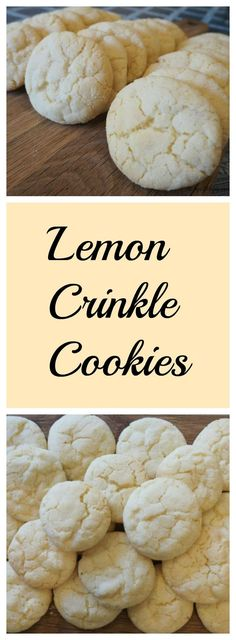 Lemon Crinkle Cookie